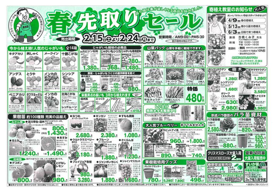2/15(土)~2/24(月)まで春先取りセール開催!